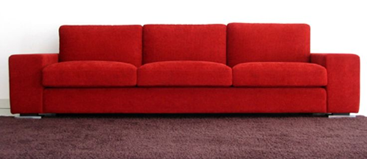 Mephisto in Red. Available in your choice of leather or fabric. Products available through Selene. www.selenefurniture.com