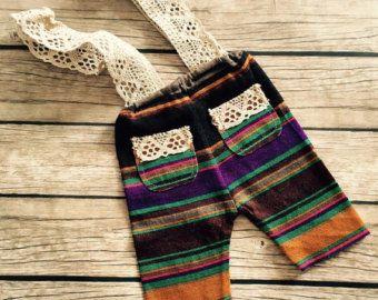 COD 98 tramo polainas, rayas, pantalones del bebé, estiramiento, ropa de recién nacido, niña, prop de la fotografía, de color