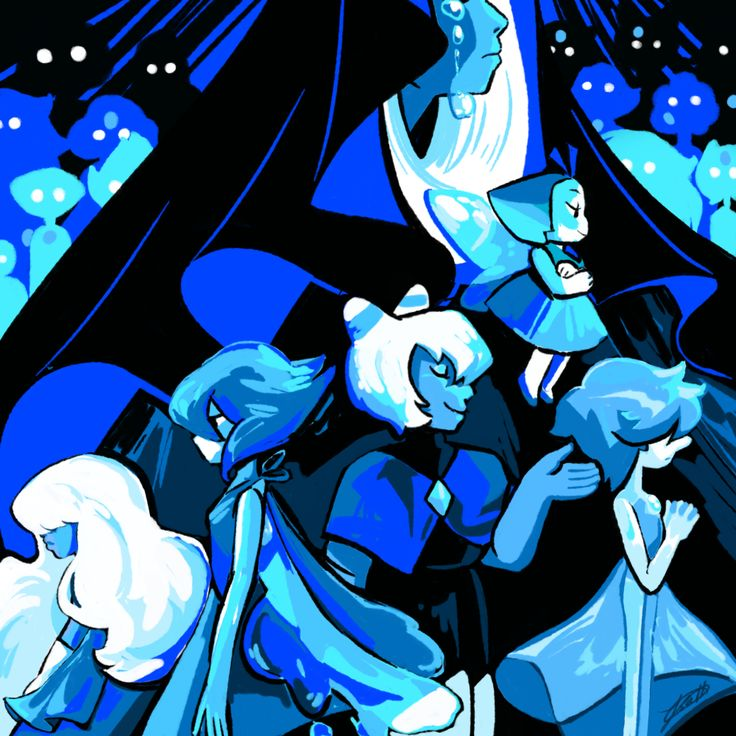Notice how blue diamond and her loyal servants are facing rights whereas both lapis and Sapphire are facing the other direction.