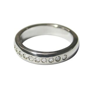 Argolla de Matrimonio oro blanco y diamante