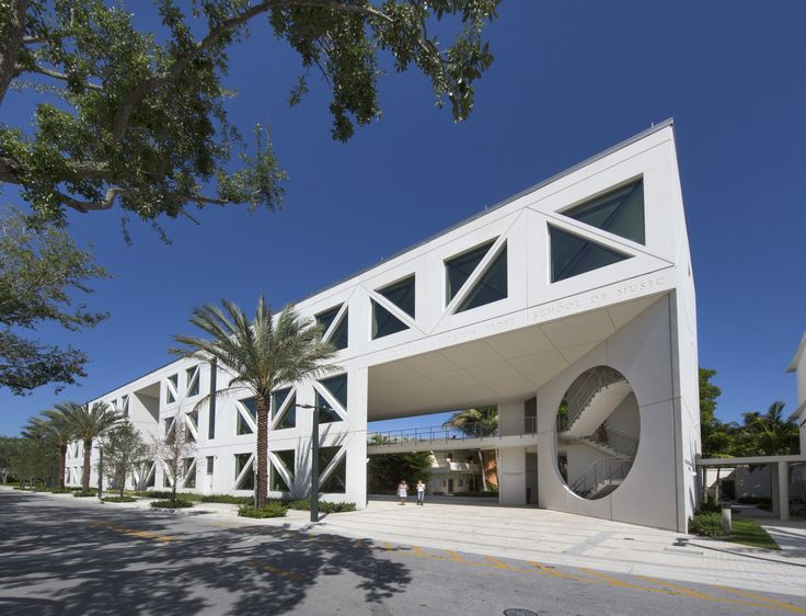 The University of Miami Patricia Frost Music Studios is LEED Platinum Certified. Performers there can enjoy thunderous applause without worry about thunderous weather.