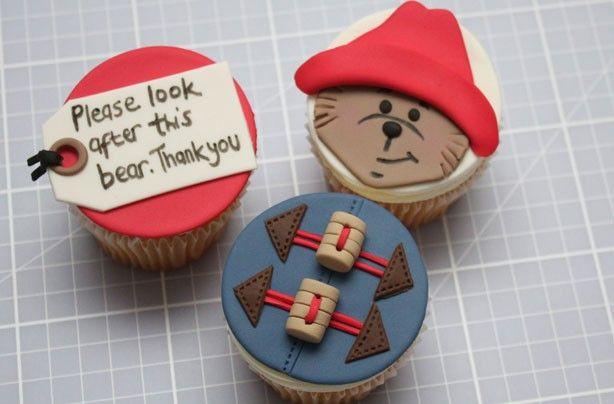 tutorial: paddington bear cupcakes