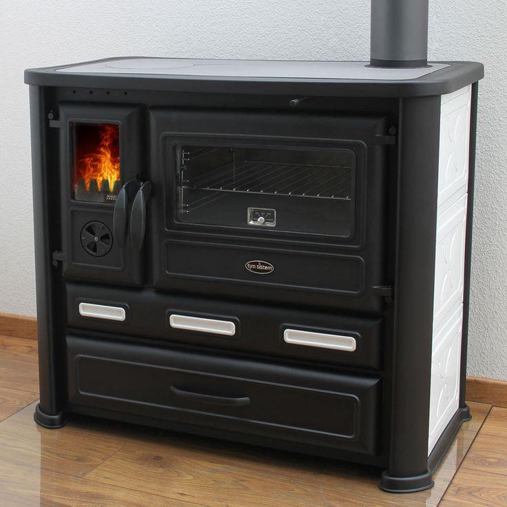 Praktisch: Mit dem Einsatz aus Gusseisen können Sie den Brennraum verkleinern. Dies ist z.B. im Sommer nützlich, wenn Sie kochen oder backen möchten, ohne den Wohnraum zu sehr aufzuheizen. Durch den Einsatz ist der Brennraum kleiner und das Feuer näher an der Herdplatte. | eBay!