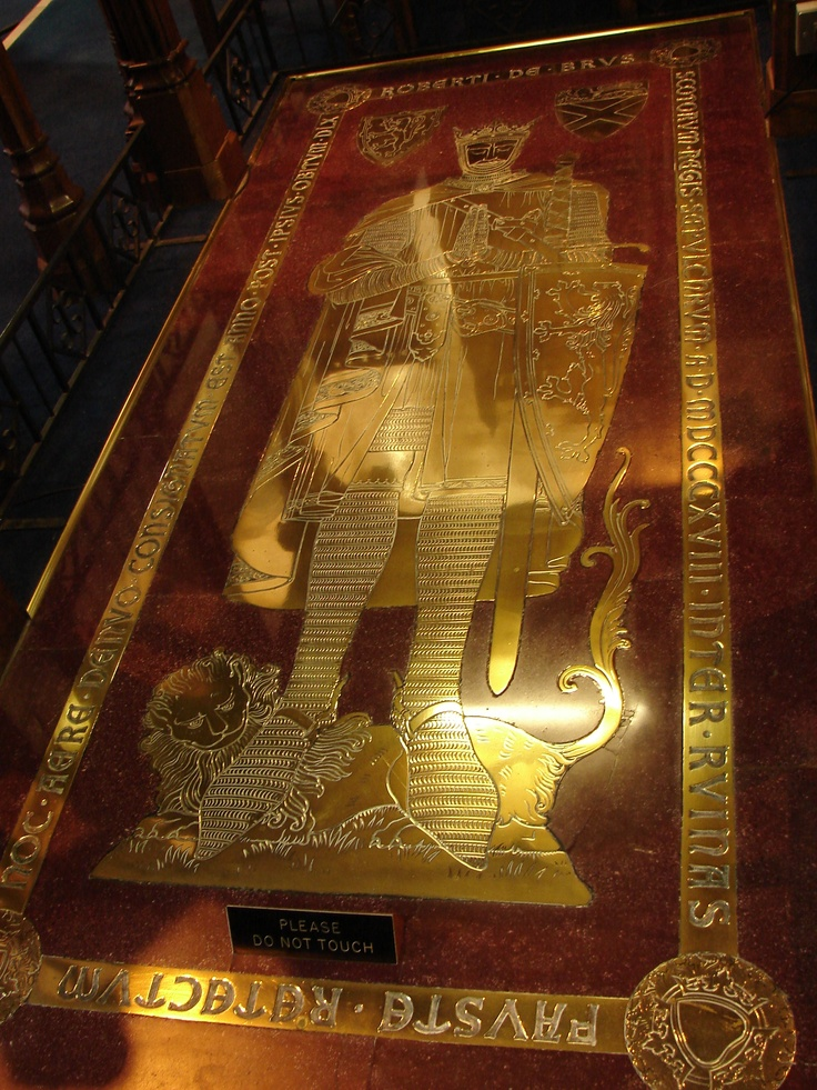 This is the marble and brass effegy of King Robert Bruce at Dunfirmline Abbey. Photo Lady Glynstewart