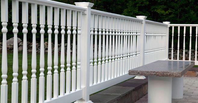 white deck railing | Lovely Vinyl Porch and Deck Railing ...