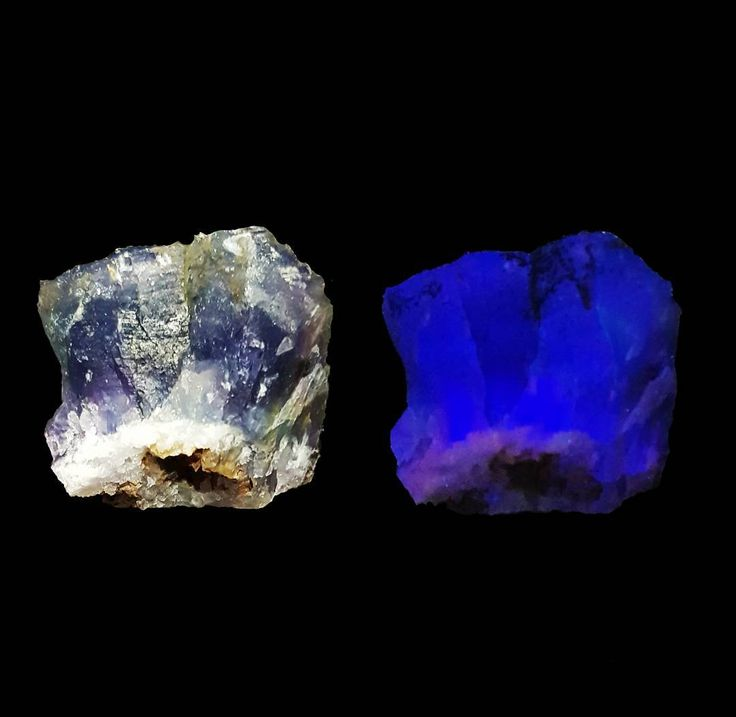 """14 Likes, 2 Comments - @what_can_the_bees_see on Instagram: """"Flourite under normal and shortwave ultraviolet light. Durango, Mexico. #mineral #minerals…"""""""