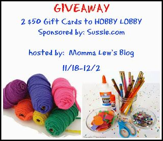 Two $50 Hobby Lobby Gift Cards Giveaway