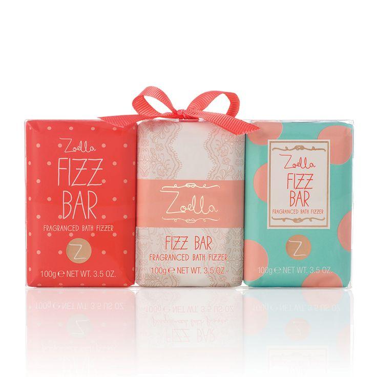 Zoella Beauty Mini Fizz Bar Fragranced Bath Fizzers Trio 3 x 100g - feelunique.com
