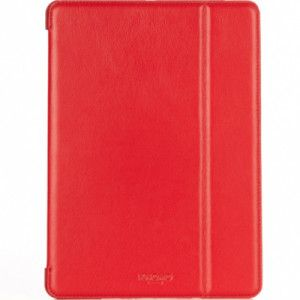 Funda de piel en color rojo para iPad Air de Knomo en fundasparamac