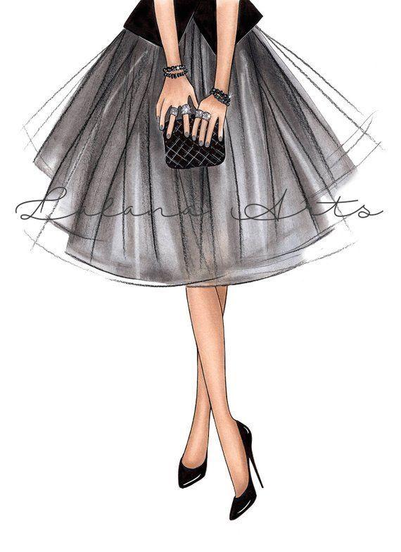 Girly art decor Girly wall art High fashion art Girly print Fashion illustration… – Gabriele Voit