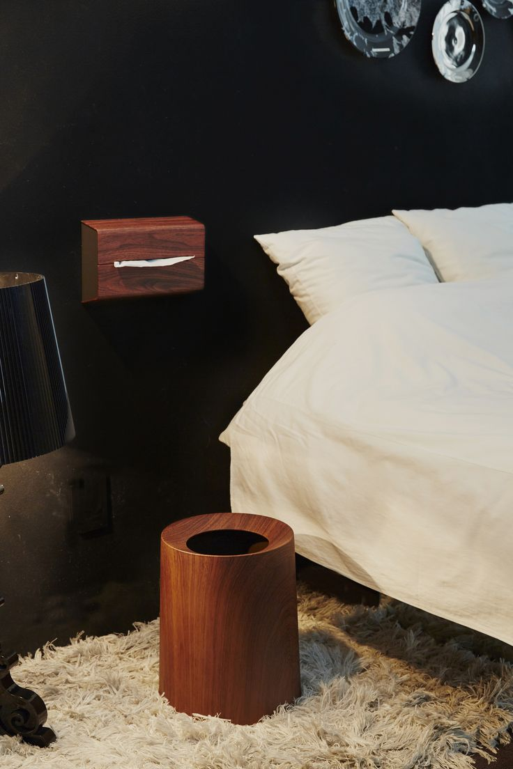 "Bed Room Trash Can ""tubelor ROSEWOOD"" Tissue Case ""WALL"""