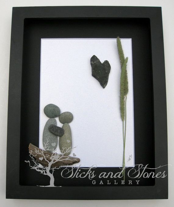 Unique Engagement Gift Personalized COUPLE'S Gift by SticksnStone