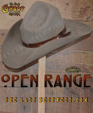 6c65bc3712b Open Range Cowboy Hat The Charley Waite hat worn by Kevin Costner Charley s  hat is the same basic crown shape worn by many top actors over the past 70  years