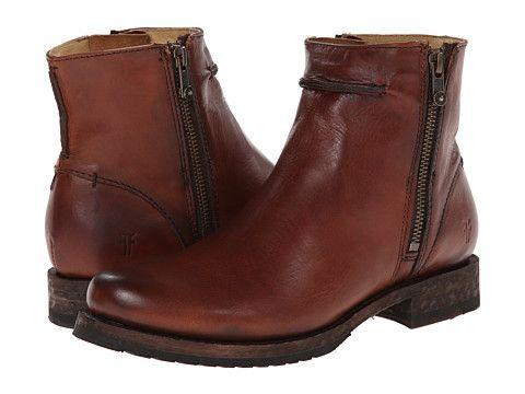 Frye Veronica Seam Short Cognac Smooth Vintage Leather - 6pm.com