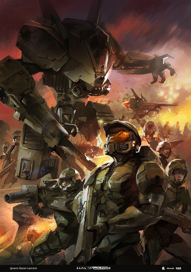 Halo Wars 2 concept art part 2, Ignacio Bazan Lazcano on ArtStation at https://www.artstation.com/artwork/Z9P1m