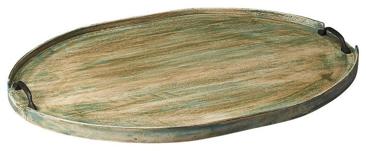 Dubois Transitional Oval Serving Tray Green