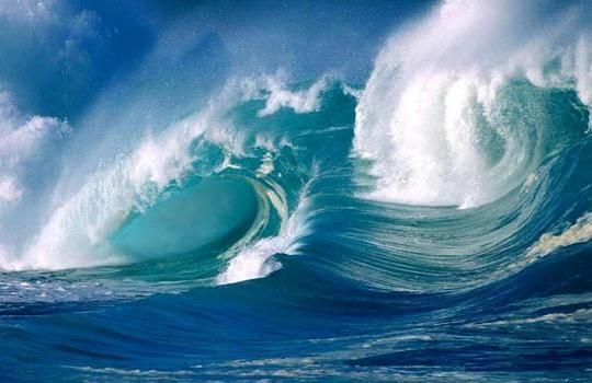 Motion of the ocean.