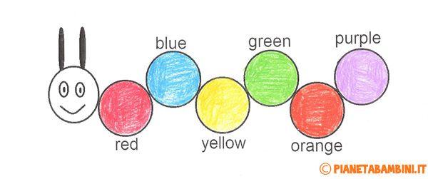 Schede didattiche dedicati ai colori in inglese da stampare gratis