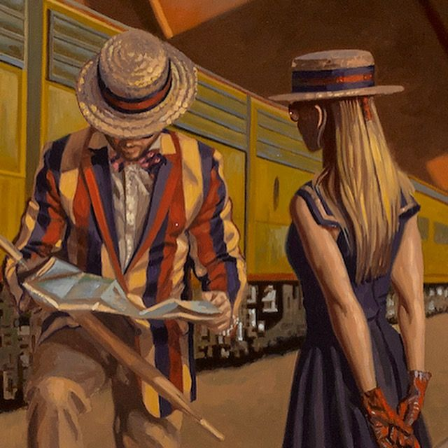 Detail from GLORY DAYS by Peregrine Heathcote