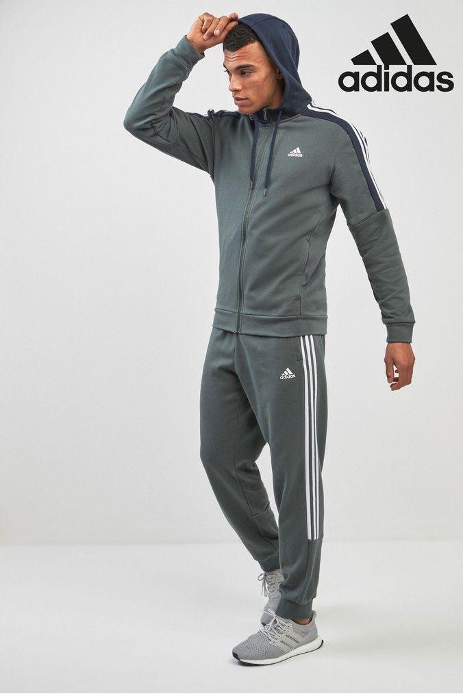 adidas fleece tracksuit mens