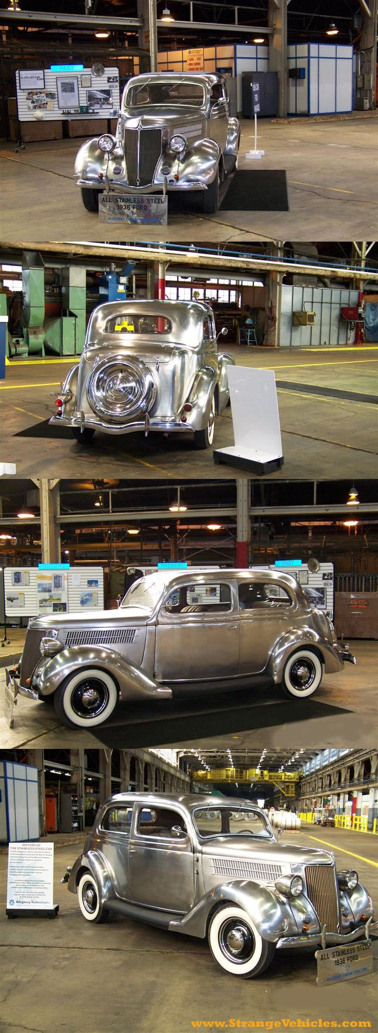 1936 Stainless Steel Ford....Brought to you by House of Insurance in #EugeneOregon call for a  free price  comparison 541-345-4191.