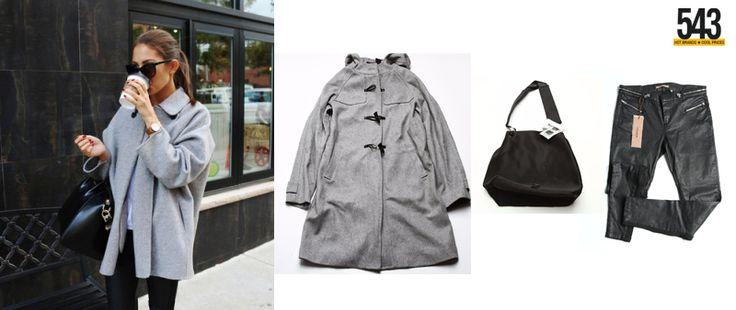 Palton s.Oliver, Geanta Bershka, Pantaloni Pull&Bear