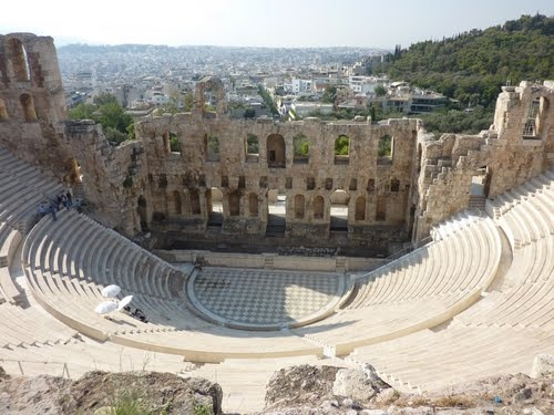 Amphitheater, Acropolis, Athens. Site of ancient Olympic games