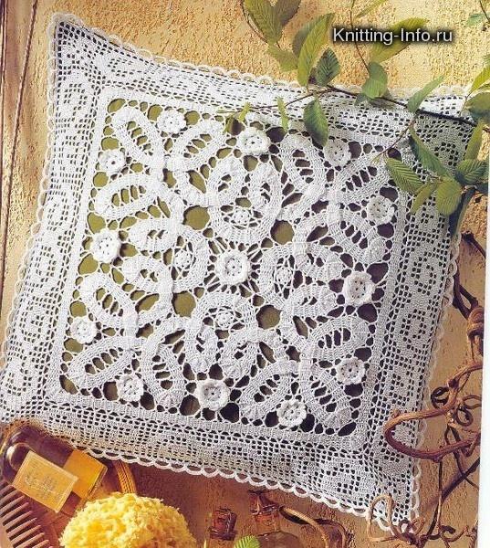 Bruges Crochet Tape Lace pillow