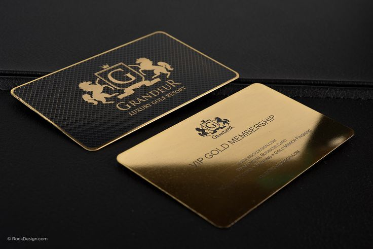 Luxury Gold Metal Business Card - Grandeur | RockDesign Luxury Business Card Printing