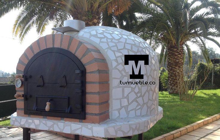 Horno de Leña Color Blanco Ceramico info@tumueble.co Cel: 319 252 2894 Llegamos a todo el Territorio Colombiano
