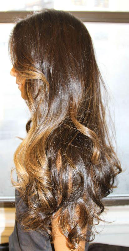 Box No. 216: subtle highlights on brunette hair. Gorgeous..