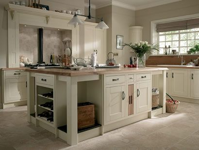 Cream Color Kitchen Cabinets And Slate Floor | Ivory Kitchen Windsor For  Those Seeking A Bright