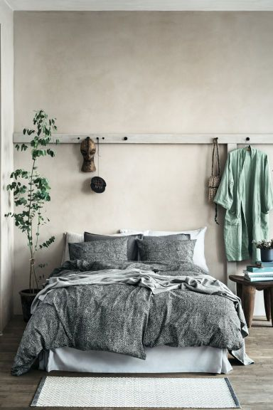 Washed linen dressing gown - Dusky green - Home All | H&M 1