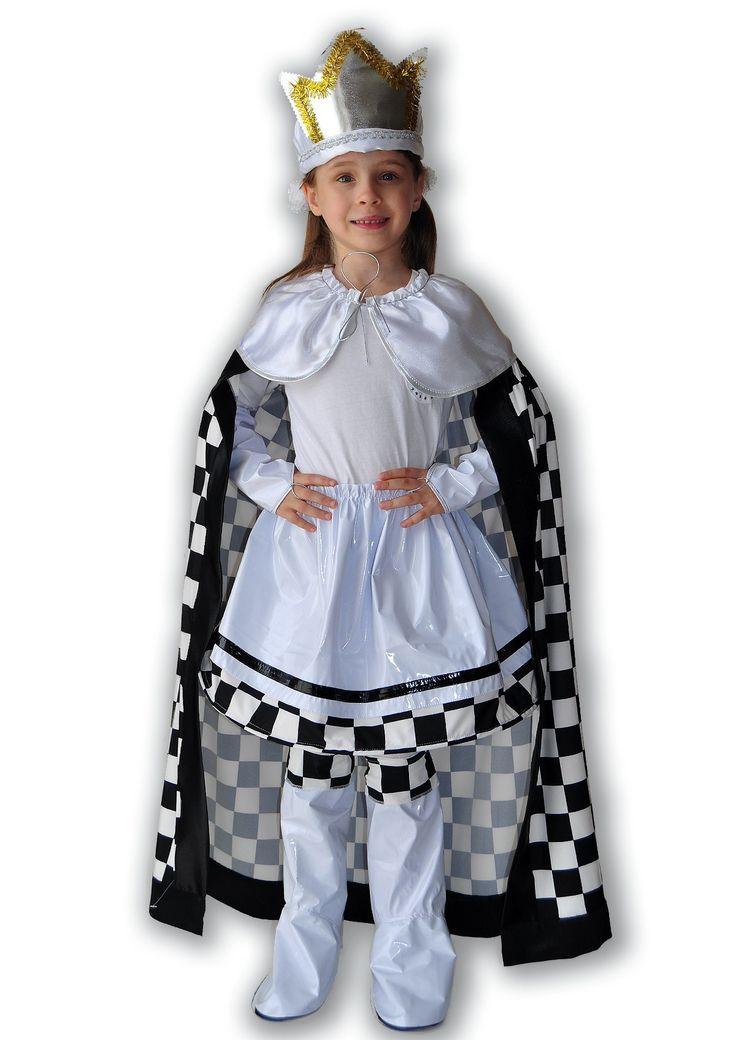 Детский костюм Шахматной Королевы белого цвета — http://fas.st/ANJ_R