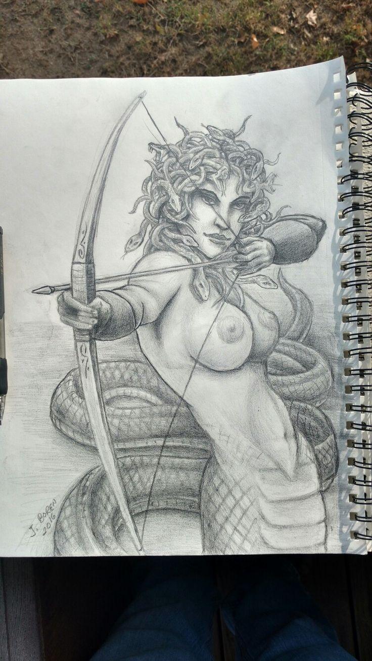 Medusa tattoo design original sketch