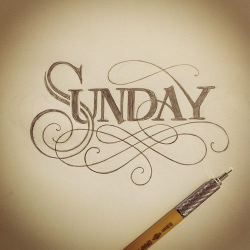 Sometimes I get carried away with my warm up…still needs some work. #lettering #handlettering #sunday