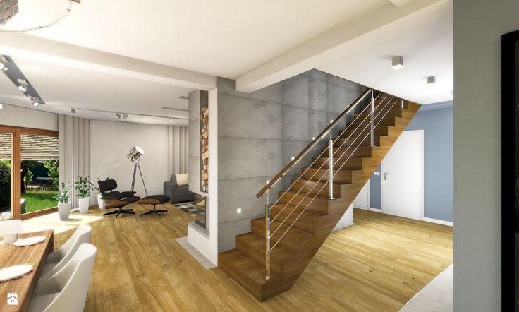 Hall + Kuchnia + Salon - zdjęcie od Atelier Studio No.1 - Schody - Styl Nowoczesny - Atelier Studio No.1