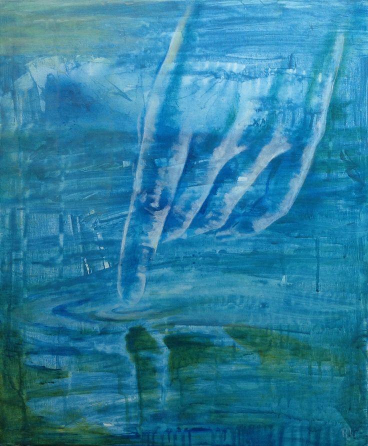 #chariklo#love#50x60#acrylic,alkyd#your waters caress my skind#JKA 5tet#rithva.dk