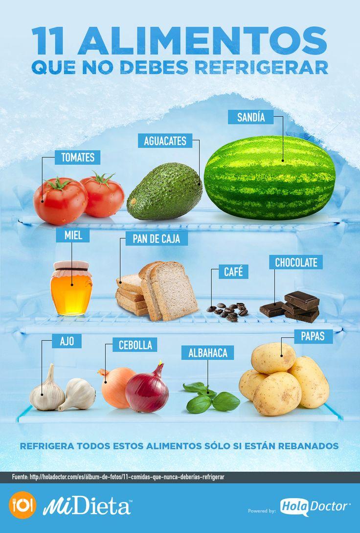 Alimentos que no van al refrigerador
