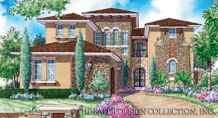 Sater design collection 39 s 6787 salicito home plan from for Sater home designs