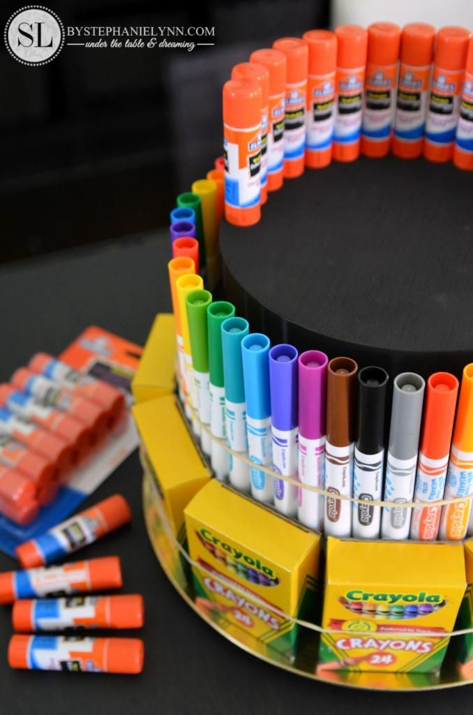 How to Make a School Supply Cake #create2educate