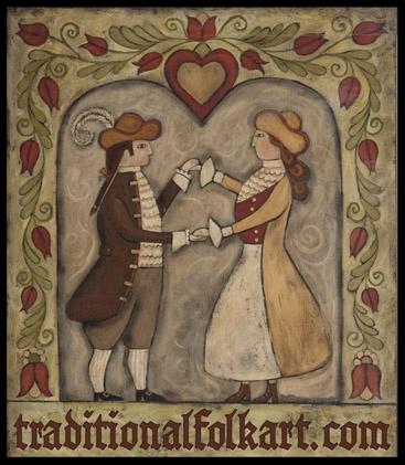 Pennsylvania Dutch style couple