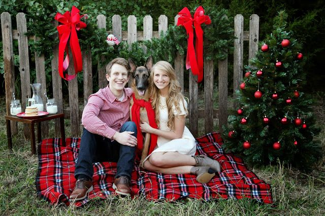 I love this concept for a winter/Christmas pic except I would take away the table and tree, a little much.
