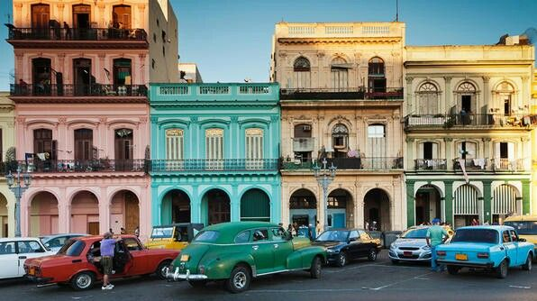 The Spanish colonial architecture, it is Cuba