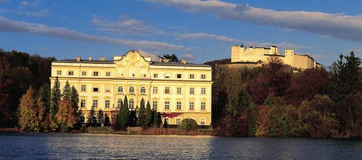 Castle Lepoldskron where some scenes of Sound of Music were shot