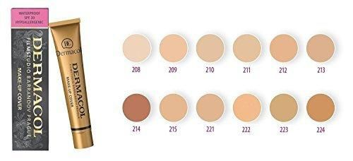 Dermacol Make-up Cover - Waterproof Hypoallergenic All 13 Shades 1 oz 30 g (207)