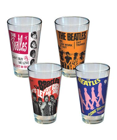 Take a look at this The Beatles Singles Pint Glass Set by ICUP Inc. on #zulily today!