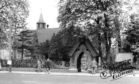Old photo of The Parish Church c1960, Wembley - St John's, where my Aunt Paula got married in the early 1950's and my cousin Tansy got married in the mid 1980's