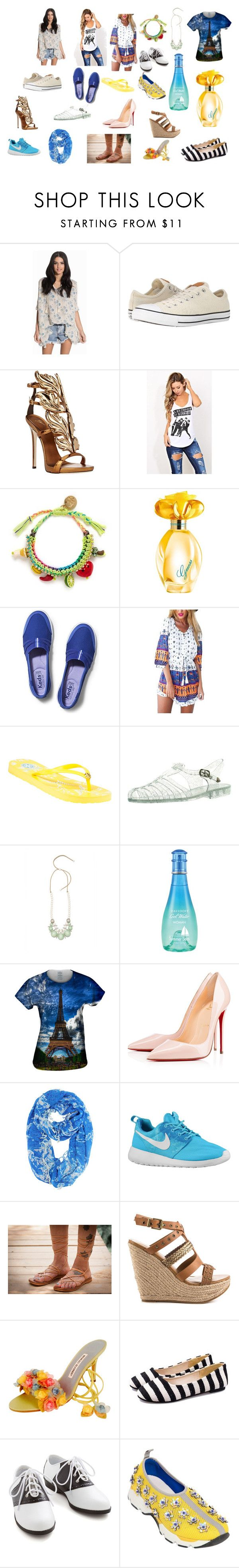 """Lucy Luco - New ladies summer style."" by exkniha on Polyvore featuring Denim & Supply by Ralph Lauren, Converse, Giuseppe Zanotti, Venessa Arizaga, GUESS, Keds, Tory Burch, Davidoff, Christian Louboutin and ALDO"