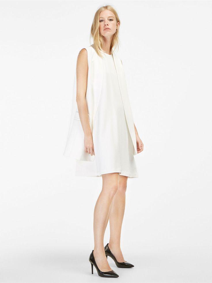 Autumn winter 2016 WOMEN´s WHITE A-LINE DRESS at Massimo Dutti for 140. Effortless elegance!